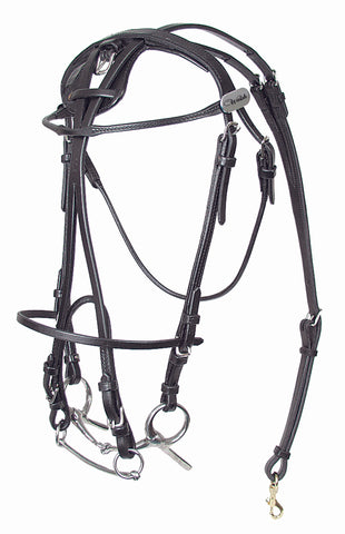 Leather Open Bridle - US Style - 326