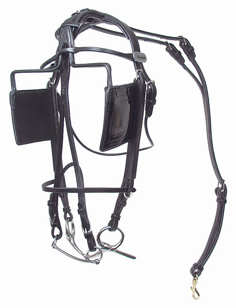 Leather Blind Bridle - US Style - 401