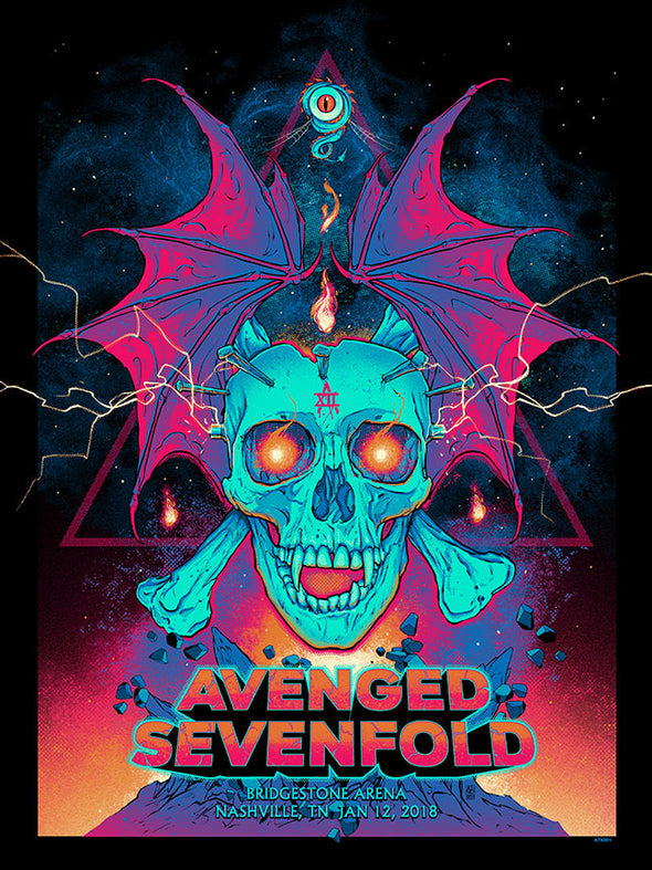 2021 Avenged Sevenfold PLAY:BK Poster Series 1 - Main Edition