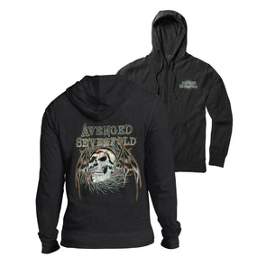Heather Or Hell Zip-Up Hoodie