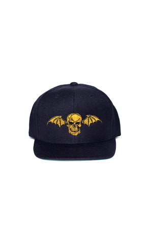 Black and Yellow Snapback Hat