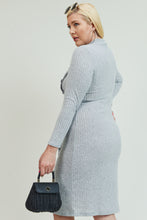 Long Sleeve Grey Dress