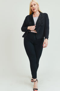 Black Trendy Jacket w/side zipper