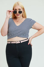 Black Stripped Crop Top