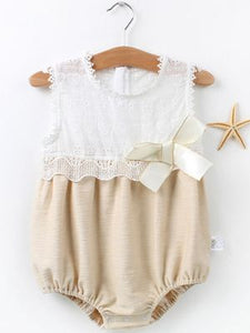 Beautiful Romper w/detachable Hat for Baby girl, baby girl clothing