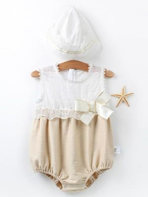 Beautiful Romper w/detachable Hat Baby set - POSHBEAR