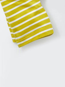 Toddler Graphic T-shirt with yellow striped shorts - POSHBEAR