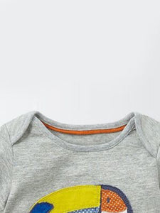 Toddlers Grey T-Shirt With Parrot Design