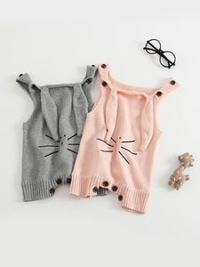 knit bunny Baby outfit - POSHBEAR