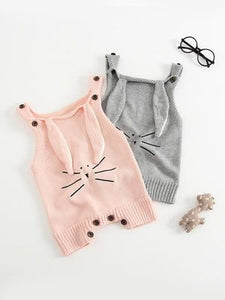 knit bunny baby outfit