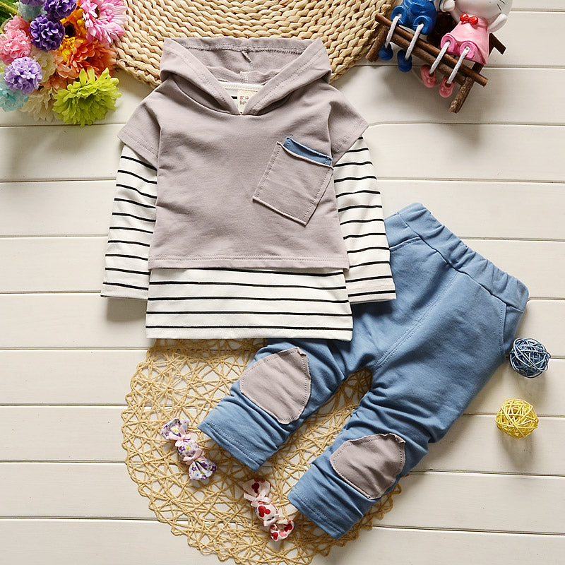 Trendy baby boy outfit 3-piece set - POSHBEAR