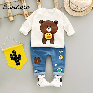Sweater and Jeans with Bear Designs