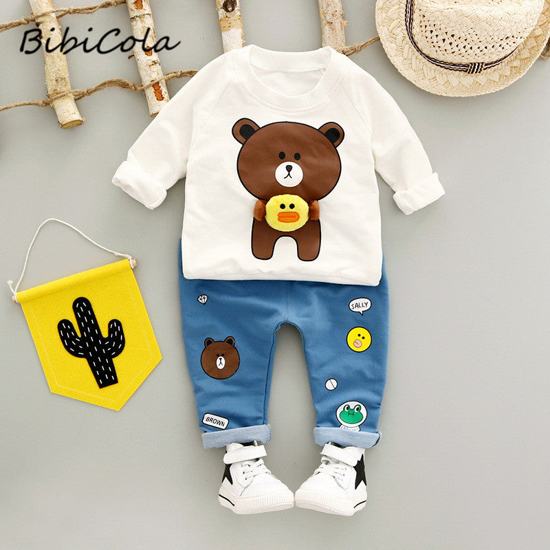 Sweater and Jeans with Bear Design baby outfit