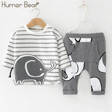 Elephant Stripped Long Sleeve and Elephant Grey Pants