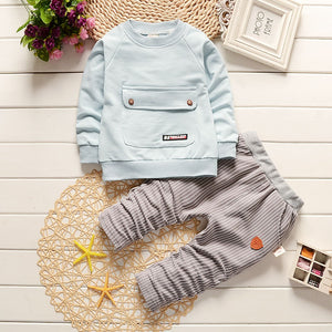 Light blue Long-sleeve Baby Outfit - POSHBEAR