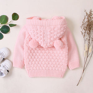Warm Baby Kawaii Coat Knit Jacket Hooded Sweater - POSHBEAR