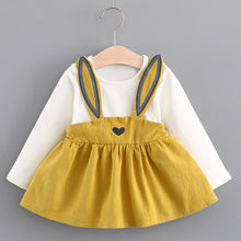 Yellow Long Sleeve Bunny Dress for baby