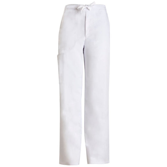 Cherokee Luxe 1022 Scrubs Pants Men's Fly Front Drawstring White
