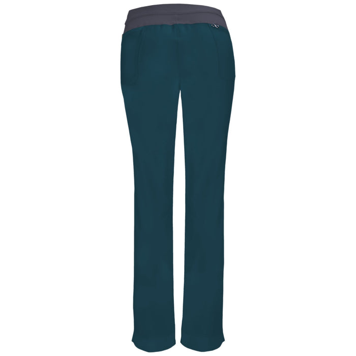Cherokee Infinity 1124A Scrubs Pants Women's Low Rise Slim Pull-On Caribbean Blue