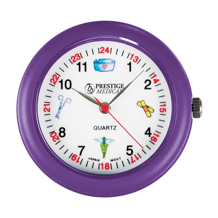 Prestige Medical Symbols Stethoscope Watch Purple