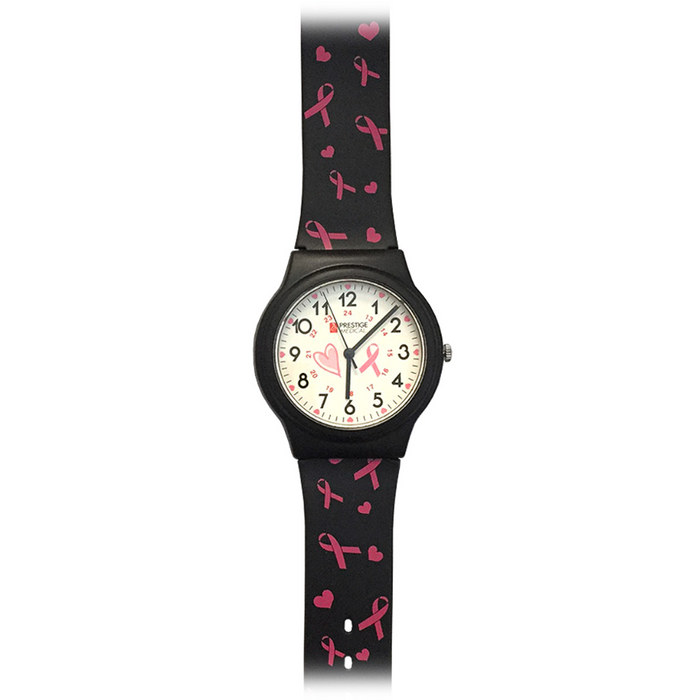 Prestige Basic Scrub Watch Pink Ribbons Black