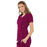 Cherokee Luxe 21701 Scrubs Top Women's Empire Waist Mock Wrap Wine 3XL