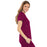 Cherokee Luxe 21701 Scrubs Top Women's Empire Waist Mock Wrap Wine L