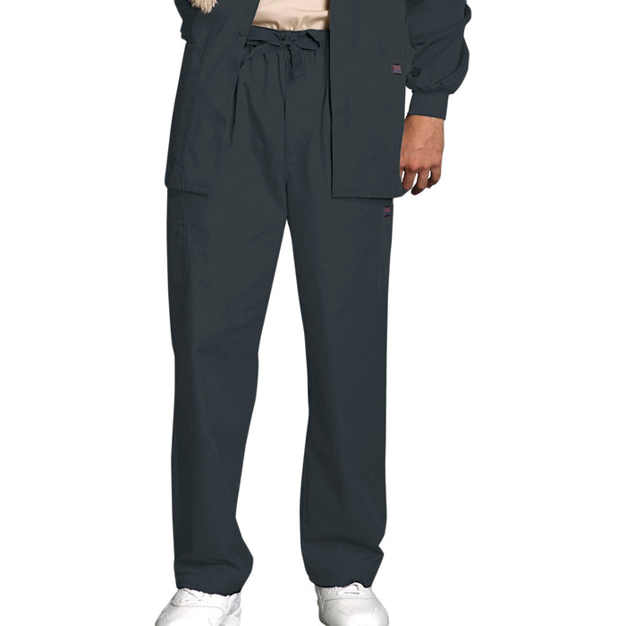 Cherokee Workwear 4000 Scrubs Pants Men's Drawstring Cargo Pewter