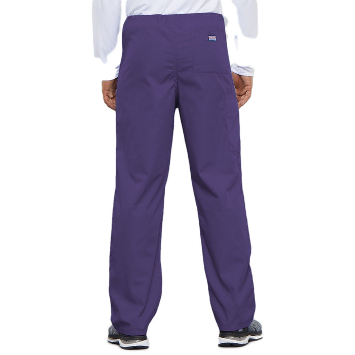 Cherokee Workwear 4100 Scrubs Pants Unisex Drawstring Cargo Grape 3XL