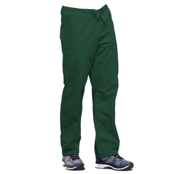 Cherokee Workwear 4100 Scrubs Pants Unisex Drawstring Cargo Hunter Green 4XL