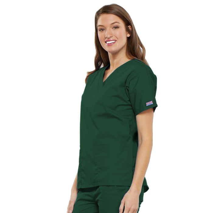 Cherokee Workwear 4700 Scrubs Top Women's V-Neck Hunter Green 4XL