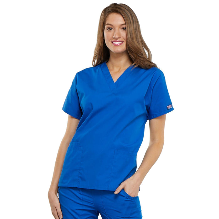 Cherokee Workwear 4700 Scrubs Top Women's V-Neck Royal