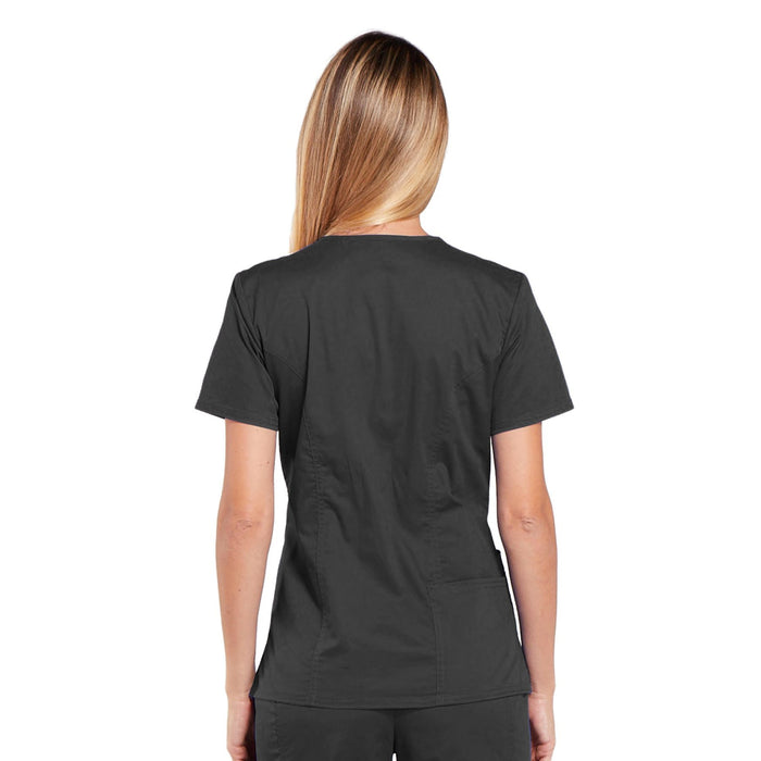 Cherokee Core Stretch 4710 Scrubs Top Women's V-Neck Pewter 3XL