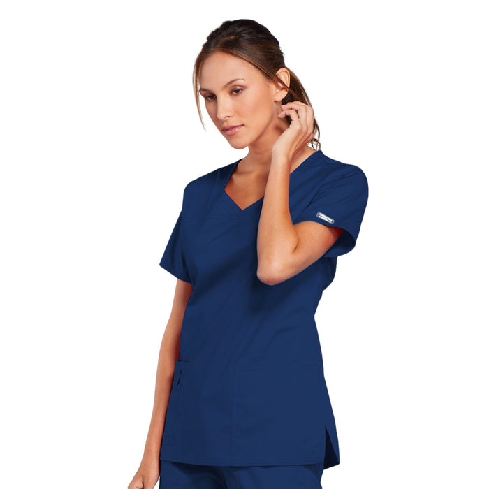 Cherokee Core Stretch 4727 Scrubs Top Women's V-Neck Navy 4XL
