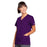 Cherokee Workwear 4770 Scrubs Top Women's Snap Front V-Neck Eggplant 3XL