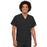 Cherokee Workwear 4777 Scrubs Top Unisex V-Neck Tunic. Black