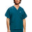 Cherokee Workwear 4876 Scrubs Top Unisex V-Neck Caribbean Blue