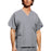 Cherokee Workwear 4876 Scrubs Top Unisex V-Neck Grey