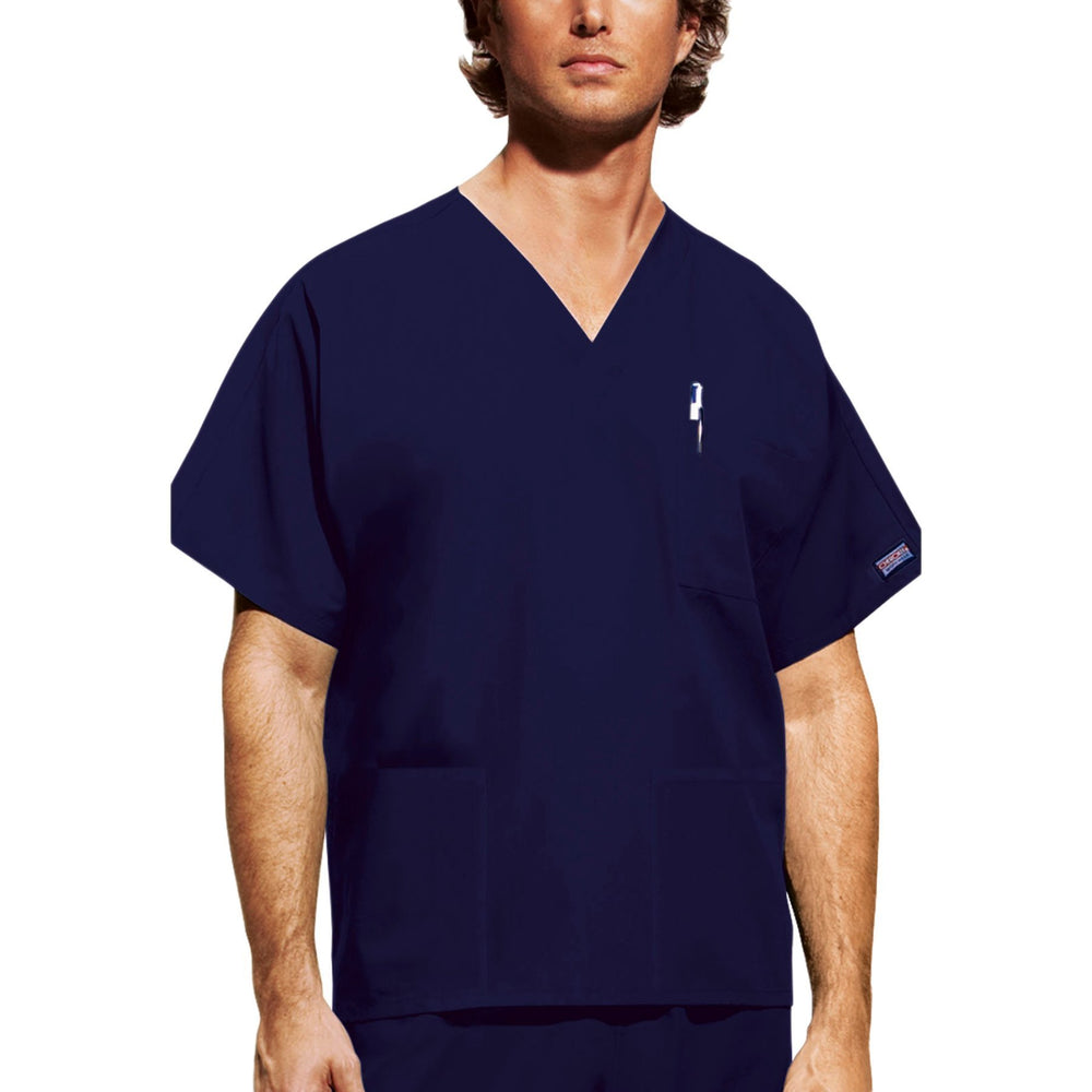 Cherokee Workwear 4876 Scrubs Top Unisex V-Neck Navy