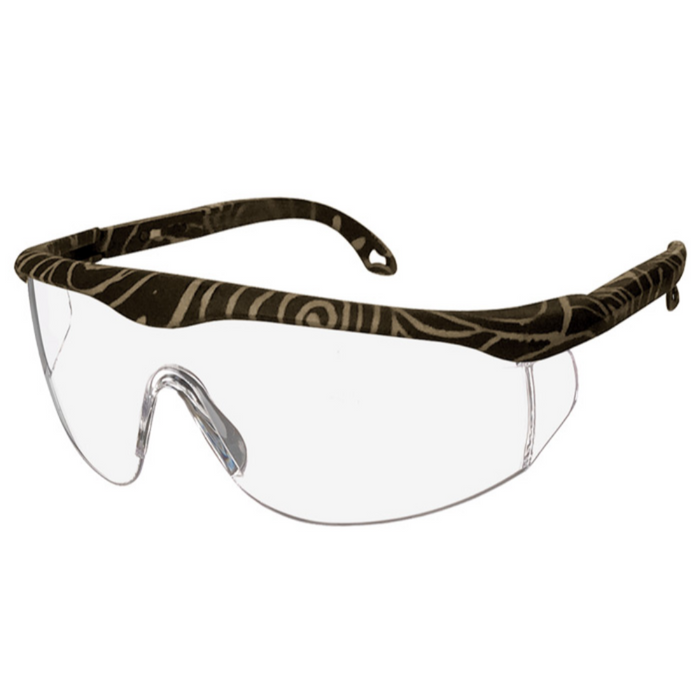 Prestige Printed Full Frame Adjustable Safety Glasses Cappuccino