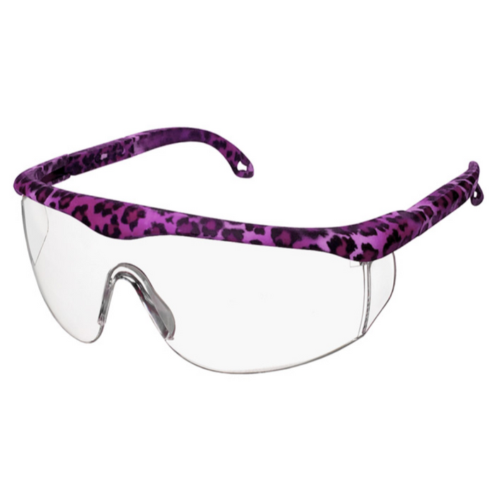 Prestige Printed Full Frame Adjustable Safety Glasses Leopard Print Purple