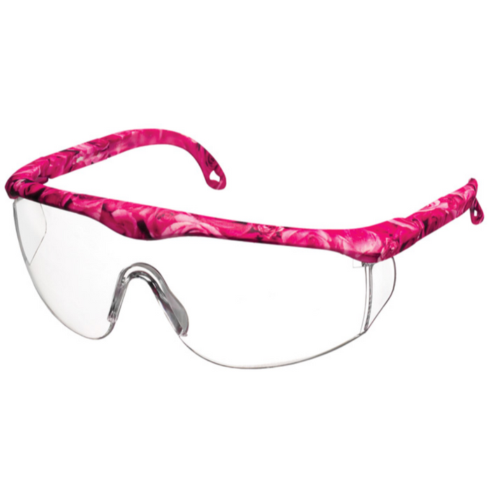 Prestige Printed Full Frame Adjustable Safety Glasses Rose