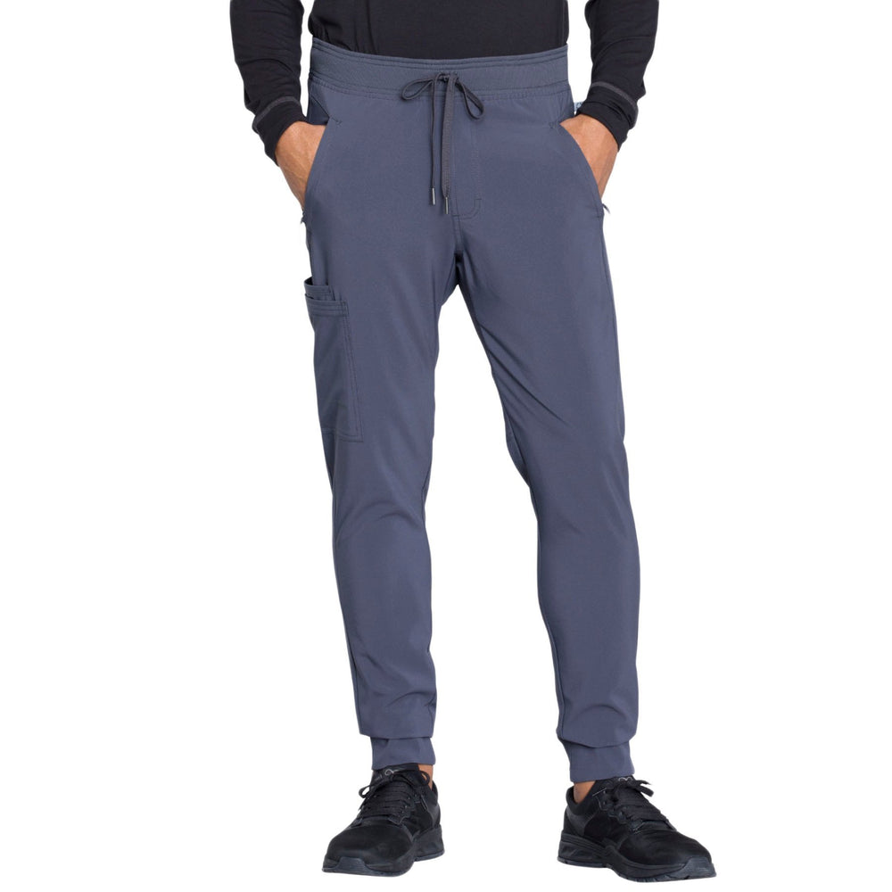 Cherokee Infinity CK004A Scrubs Pants Men's Natural Rise Jogger Pewter