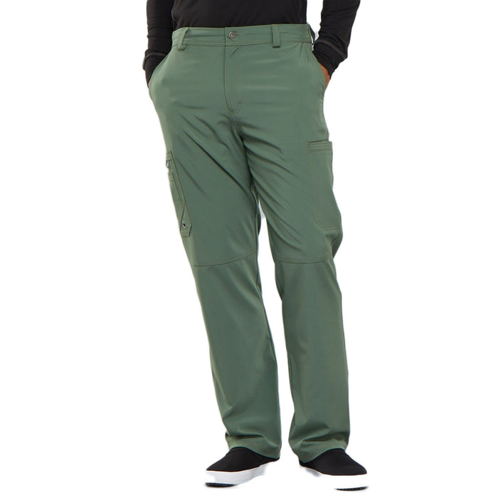 Cherokee Infinity CK200A Scrubs Pants Men's Fly Front Olive