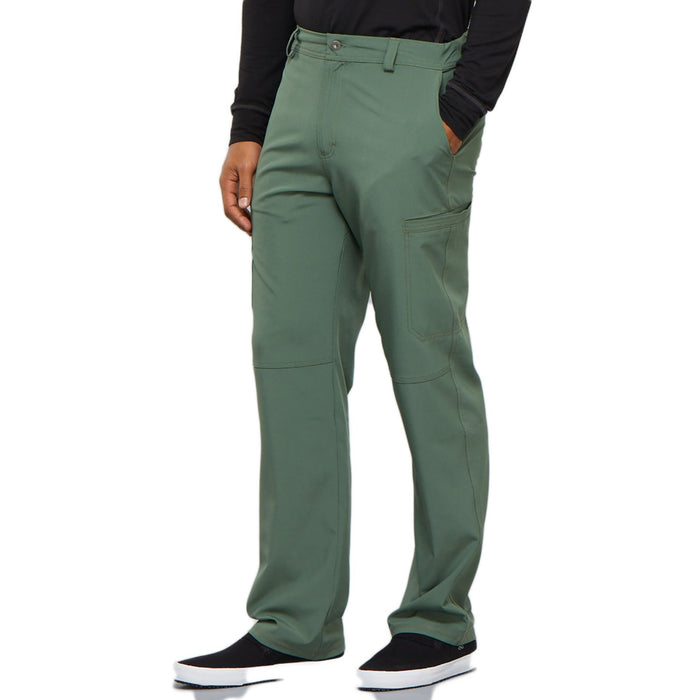 Cherokee Infinity CK200A Scrubs Pants Men's Fly Front Olive 4XL