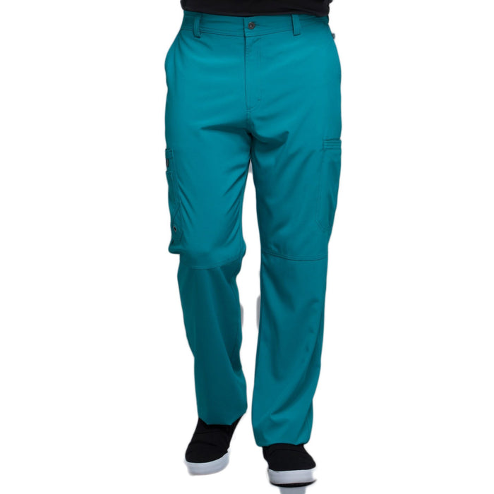 Cherokee Infinity CK200A Scrubs Pants Men's Fly Front Teal Blue