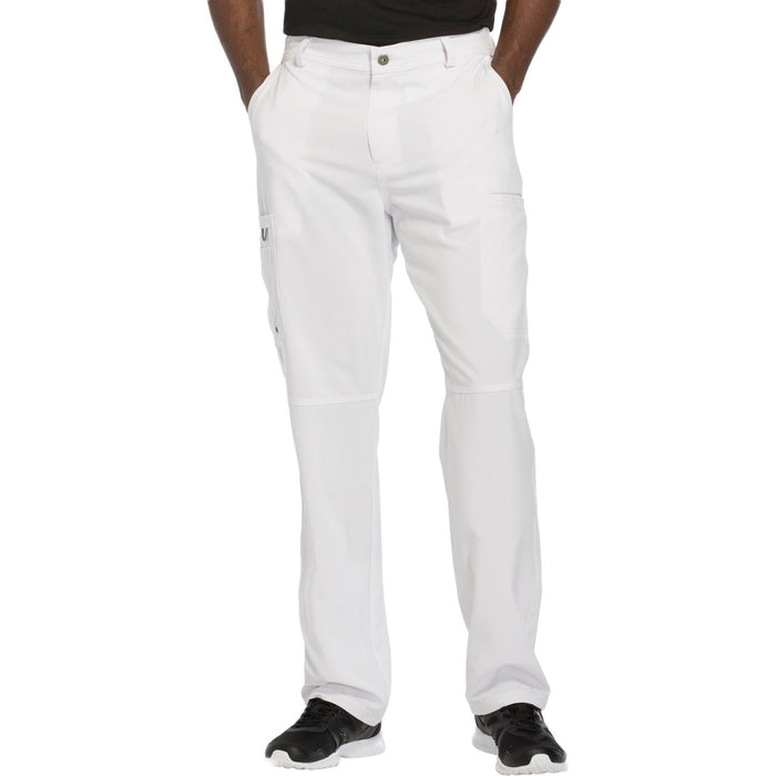 Cherokee Infinity CK200A Scrubs Pants Men's Fly Front White