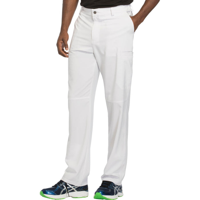 Cherokee Infinity CK200A Scrubs Pants Men's Fly Front White 4XL