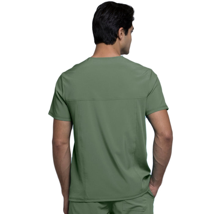 Cherokee Infinity CK900A Scrubs Top Men's V-Neck Olive 3XL