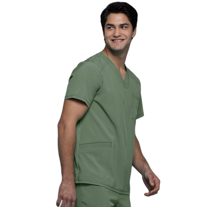 Cherokee Infinity CK900A Scrubs Top Men's V-Neck Olive 5XL
